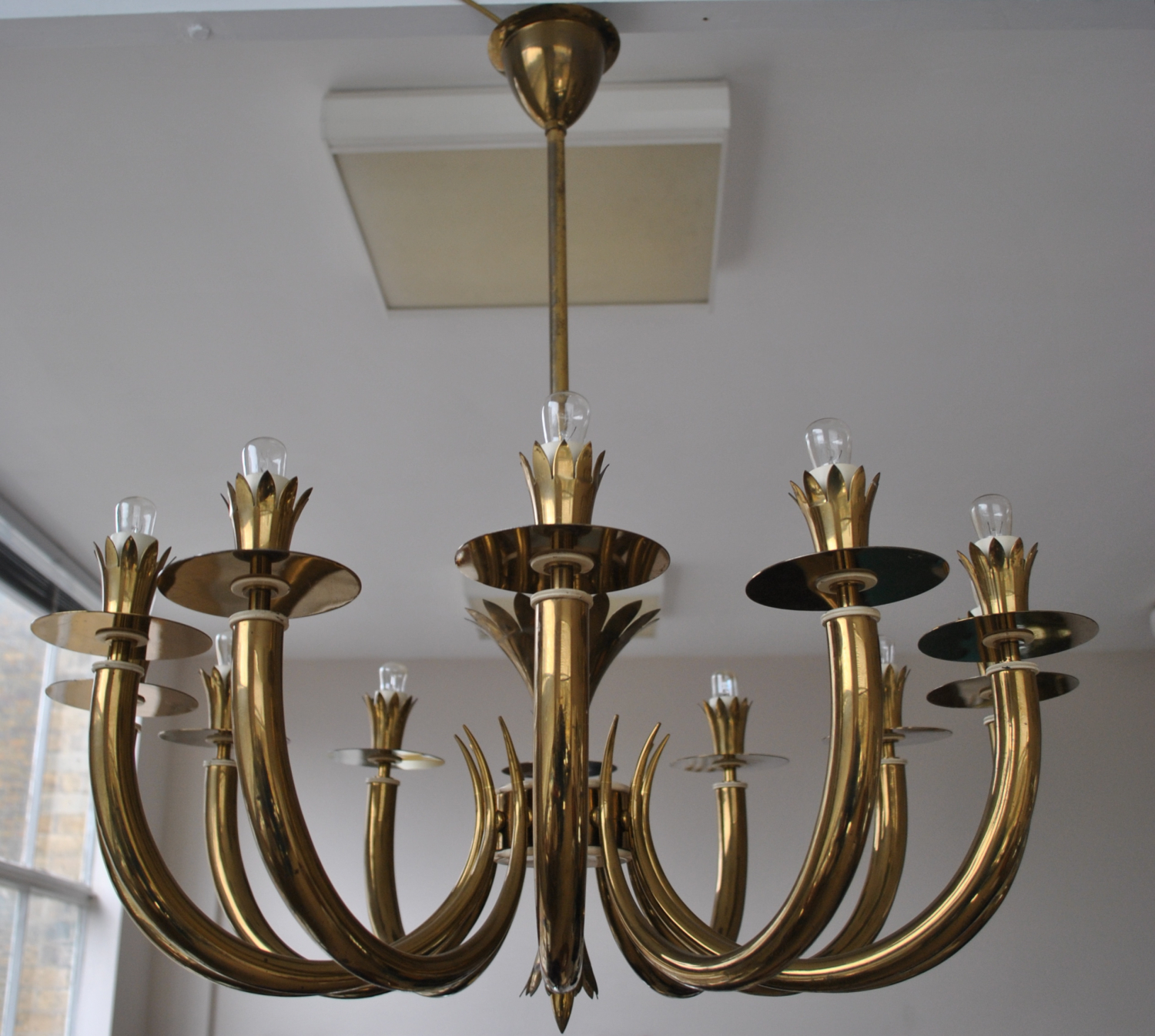 Brass Italian Chandelier