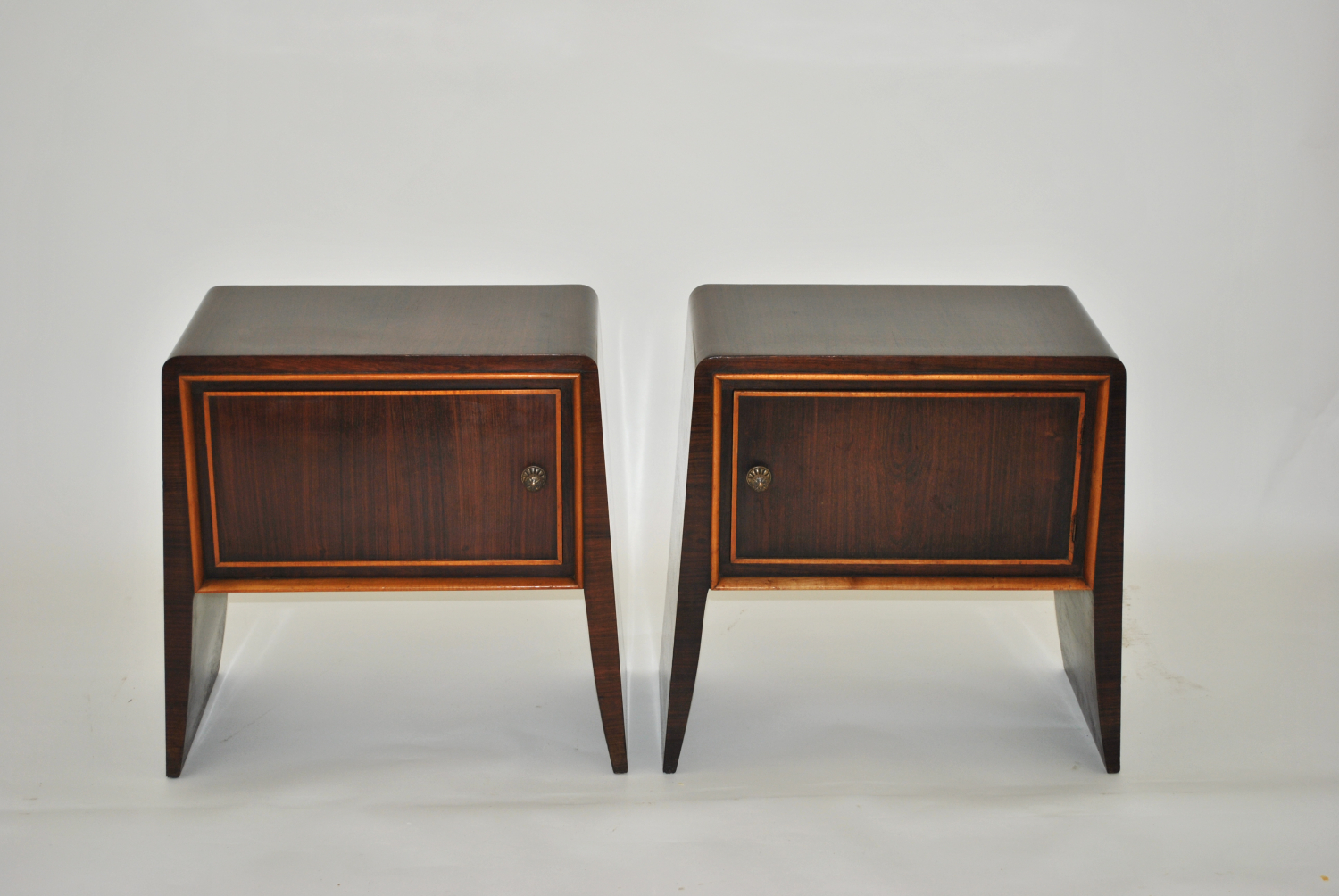 Pair of Rosewood Bedside Tables