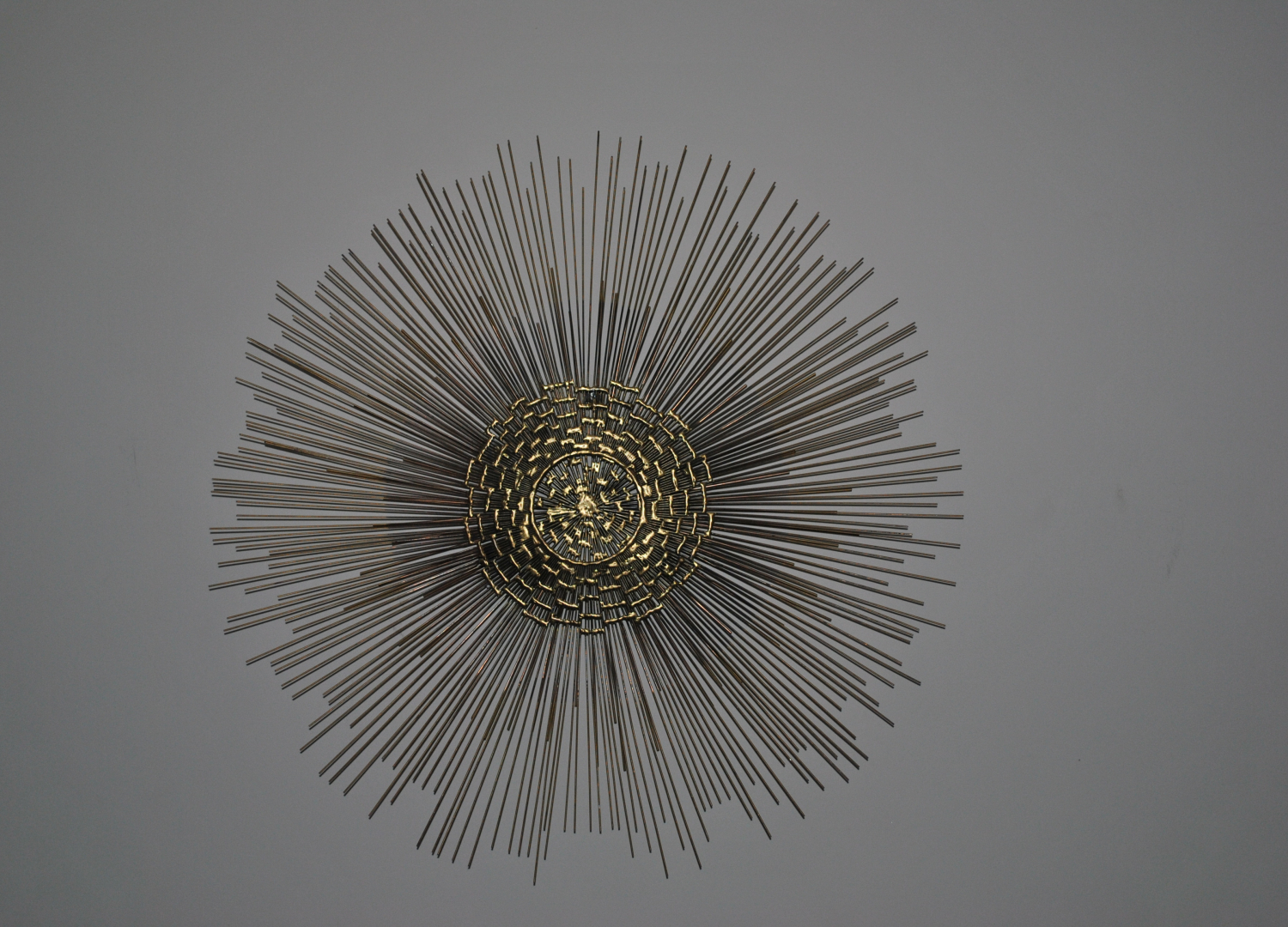 Brass Sunburst Wall Sculpture 1