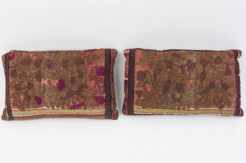 Pair of Chinese panel cushions
