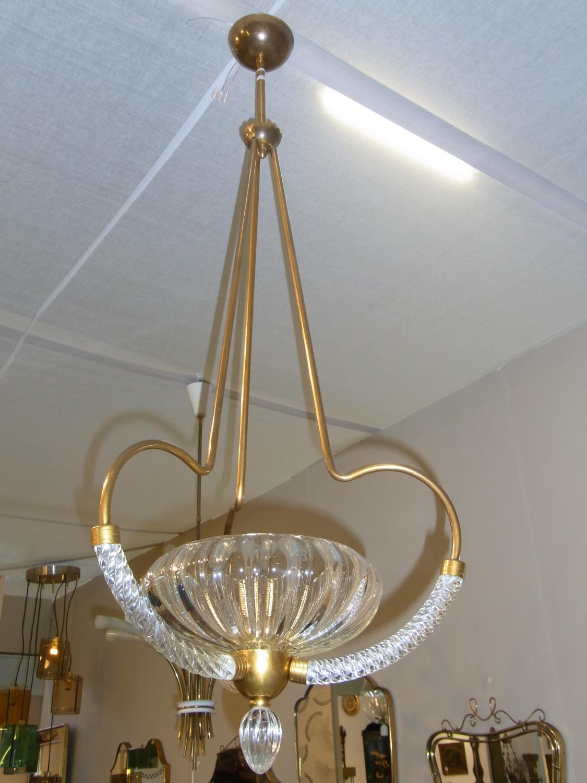 Large Barovier Murano chandelier