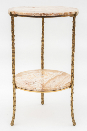 Gilt Bronze Lamp / Side Table