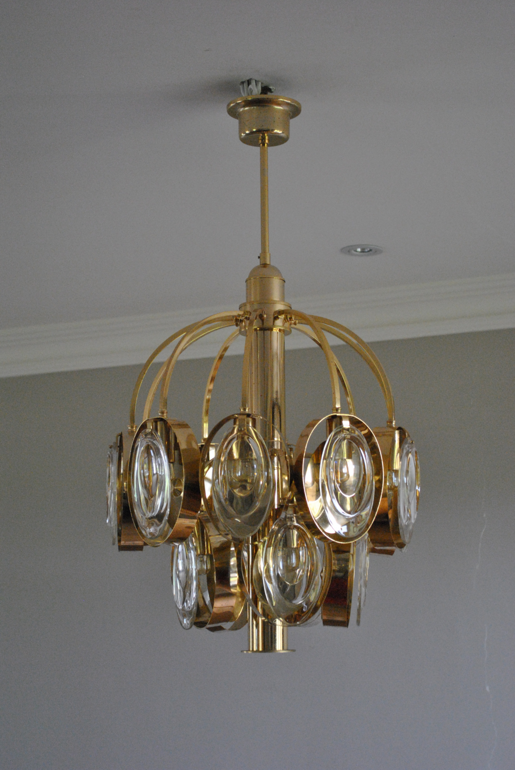 Sciolari Chandelier With Optical Glass