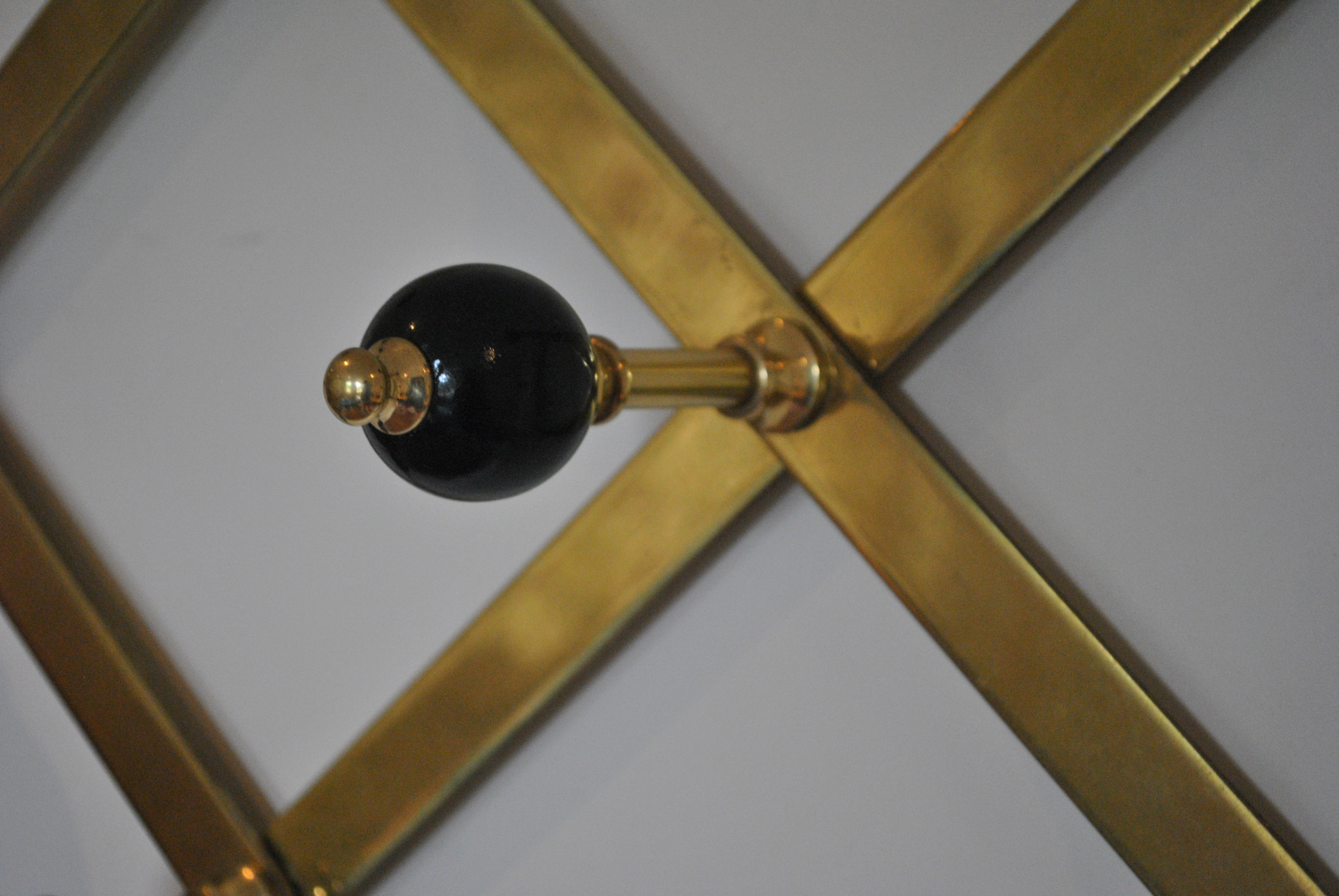 Lacquered Brass Coat Rack