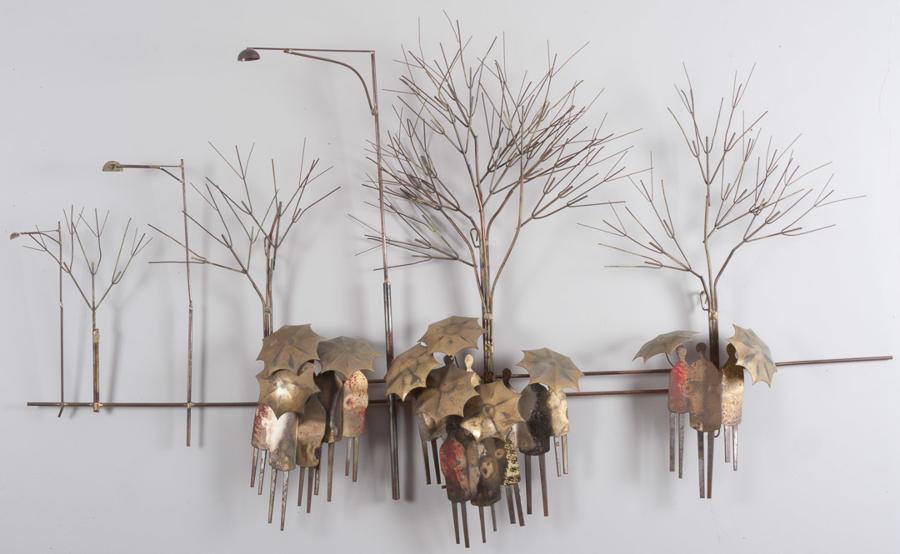 Street lights wall sculpture by Curtis Jere