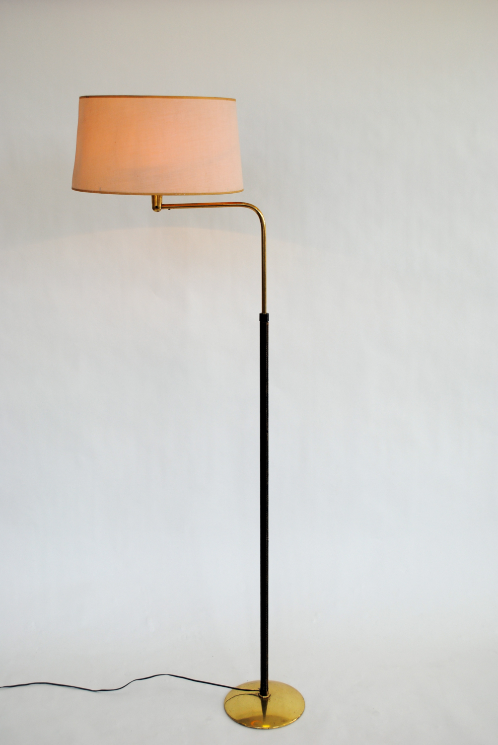 Leather Floor Lamp France 1950`s.