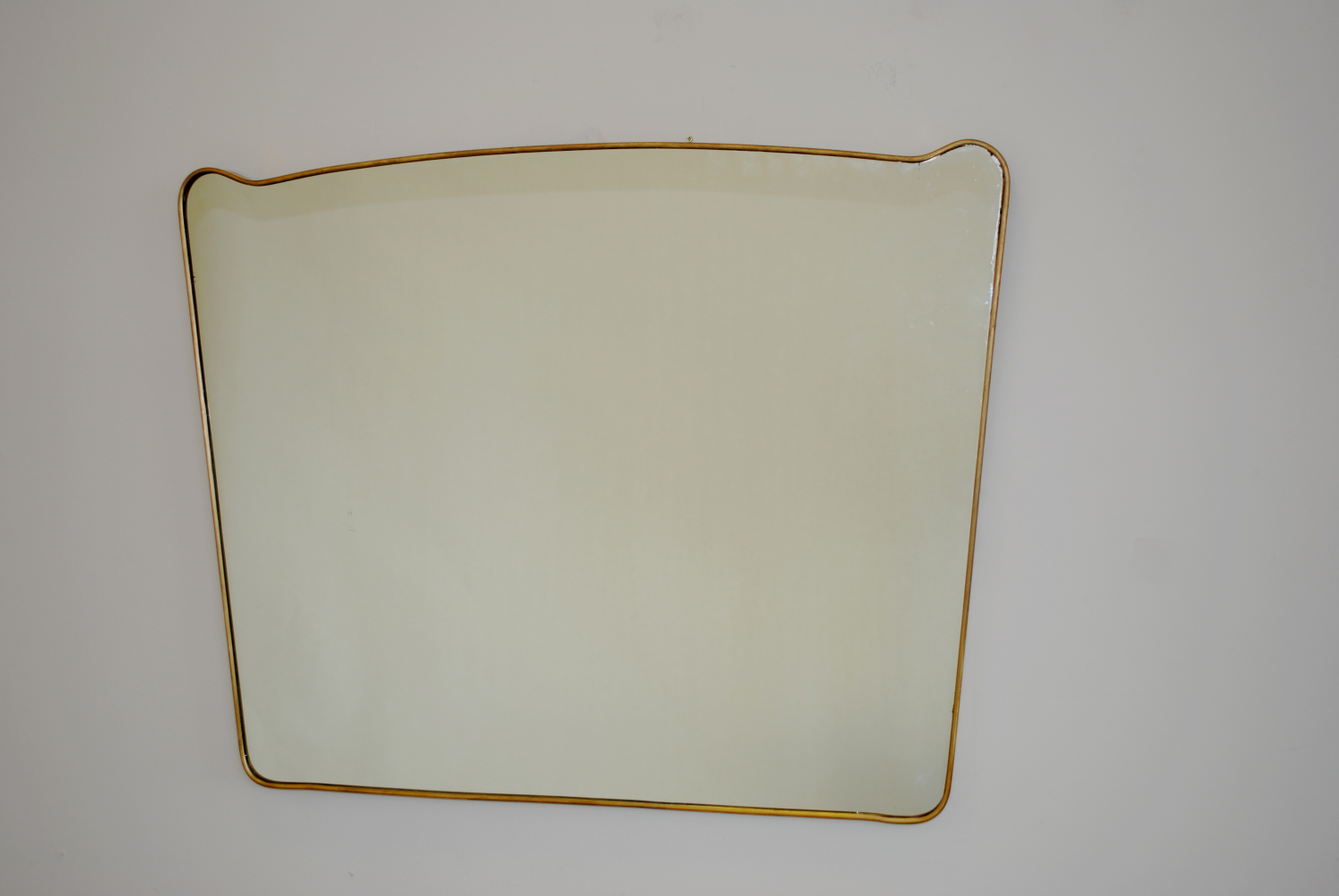 Large Landscape Brass Mirror