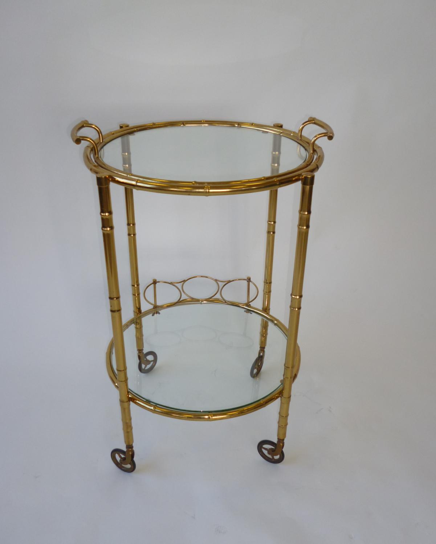 Brass Italian Serving Trolley