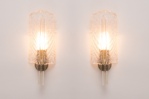 Pair of leaf wall lights
