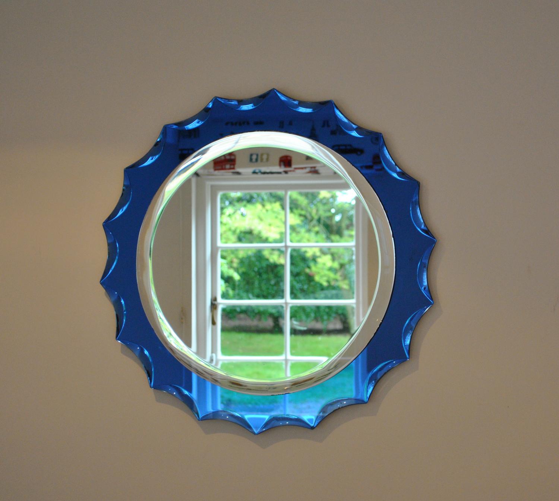 Blue Framed Mirror