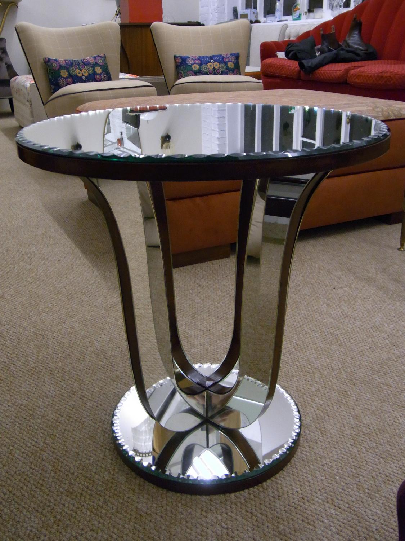 Art Deco Mirrored Sofa Table