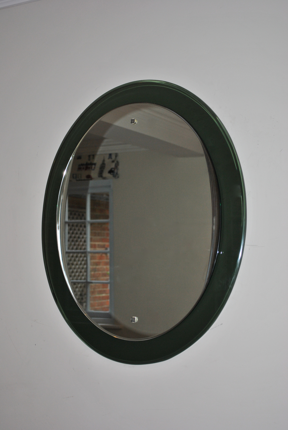 Dark Green Framed Mirror