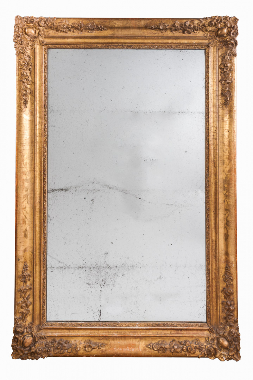 French Mirror with Mercury Glass