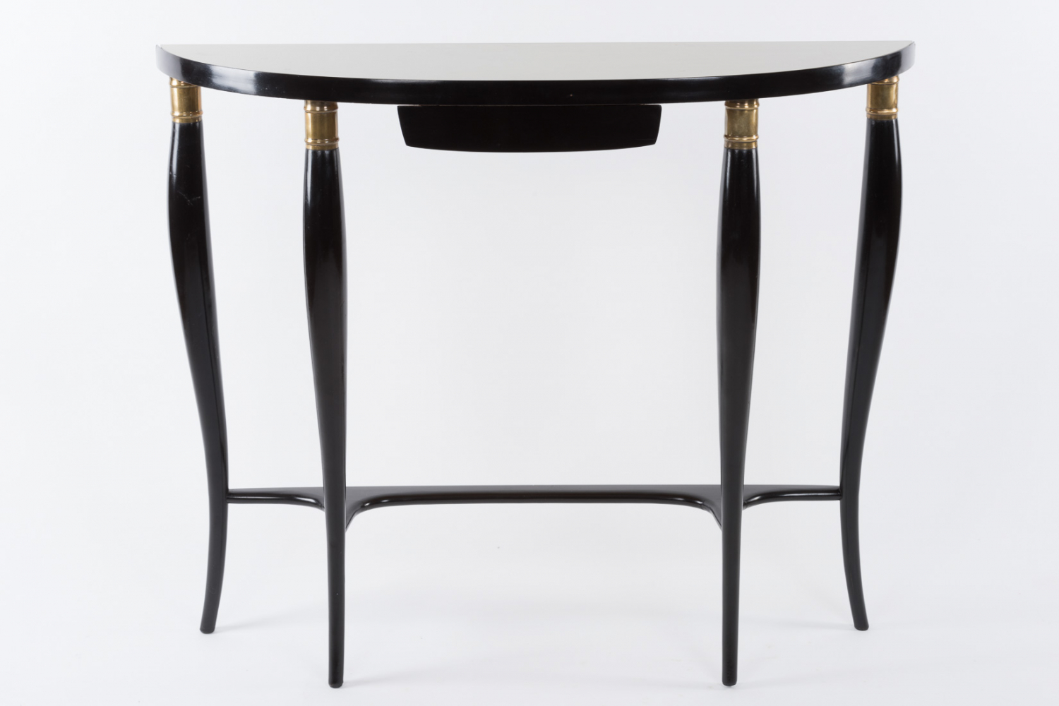 Console table with glass top