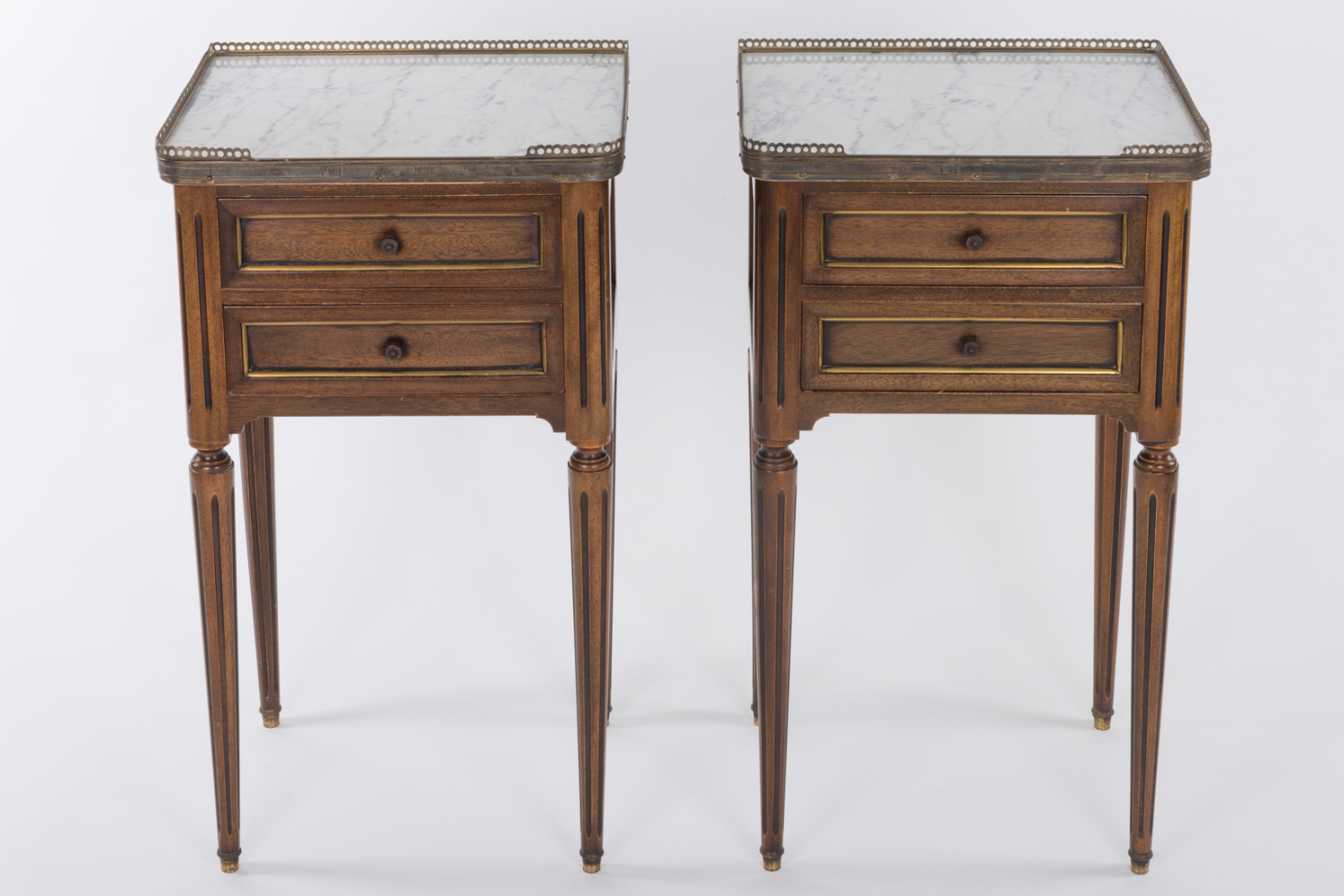 Pair of Louis style bedside tables