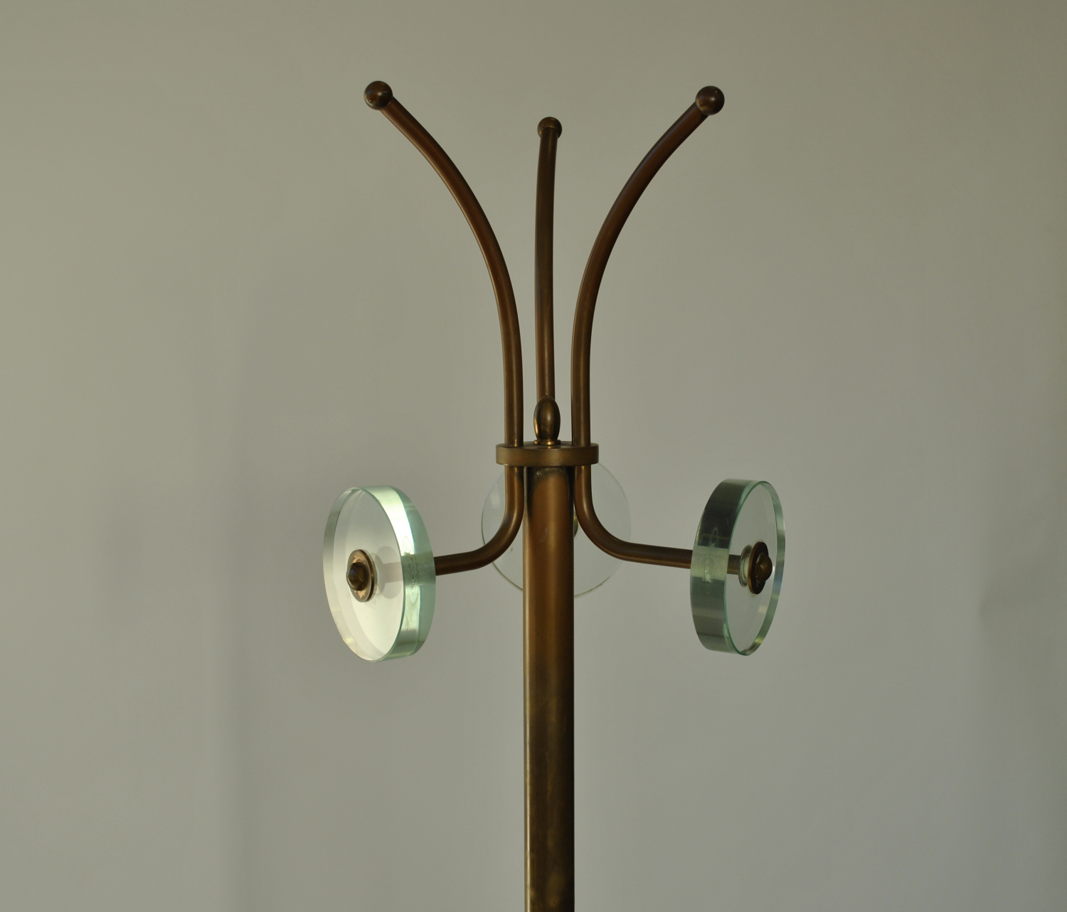 Lacquered Brass Coat Stand