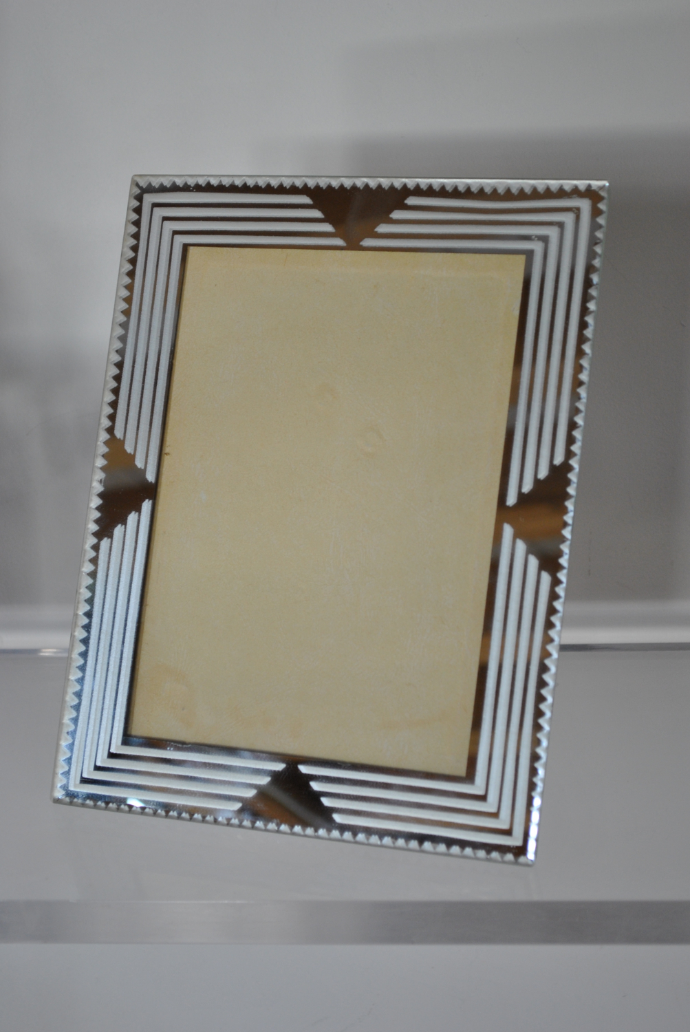 Art Deco Etched Photo Frame