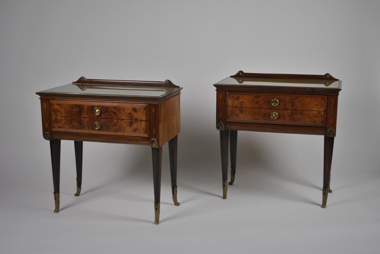 Walnut Bedside Tables