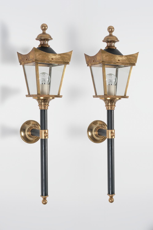 Brass Lantern Wall Lights