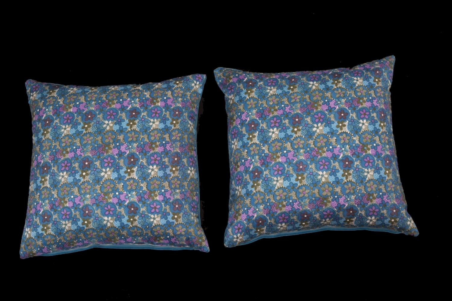 A pair of 1960`s floral cushions