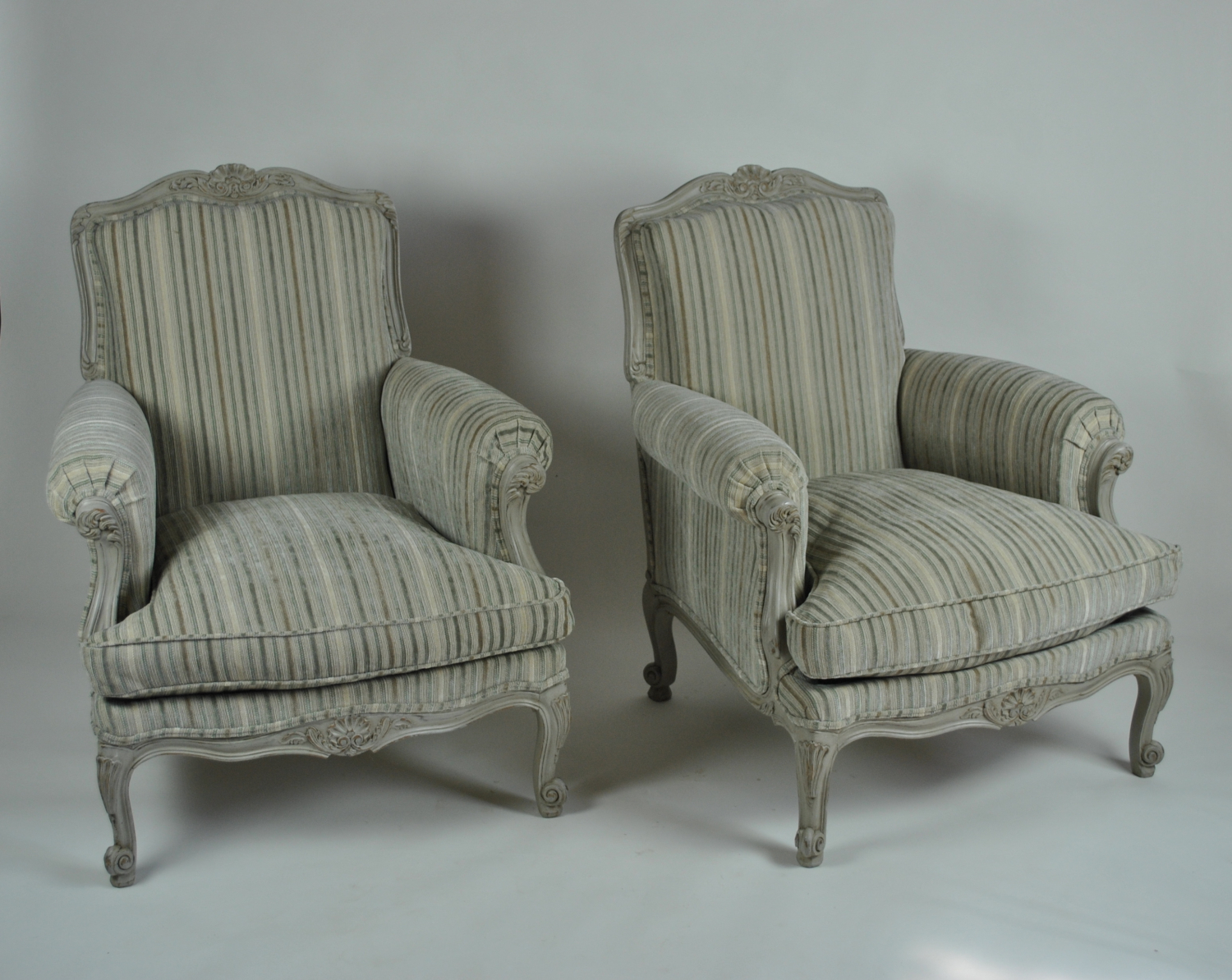 Louis style painted Chairs