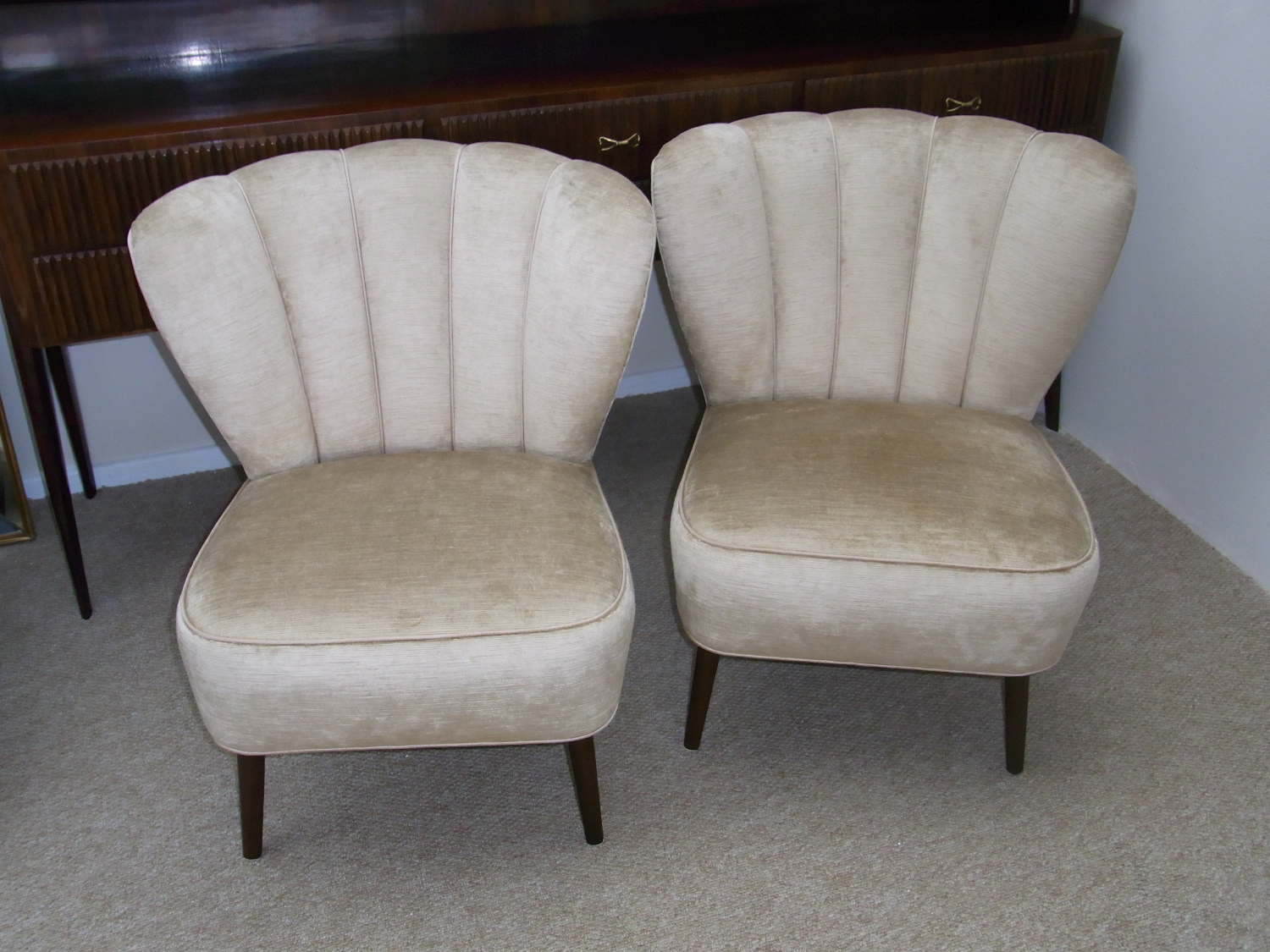 Pair of 1950`s French Cocktail chairs