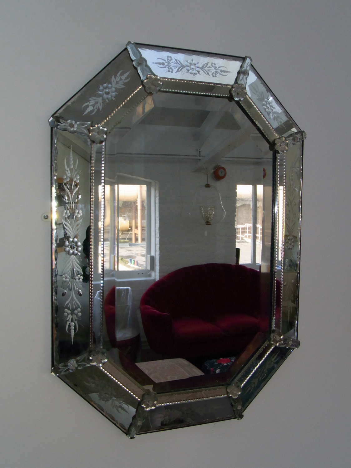 Late 19th Century French Venetian style mirror