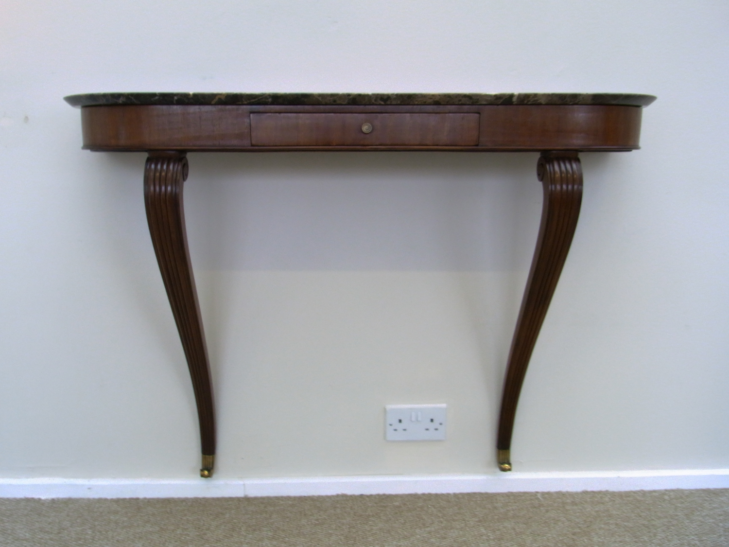 Mahogany and Marble Console