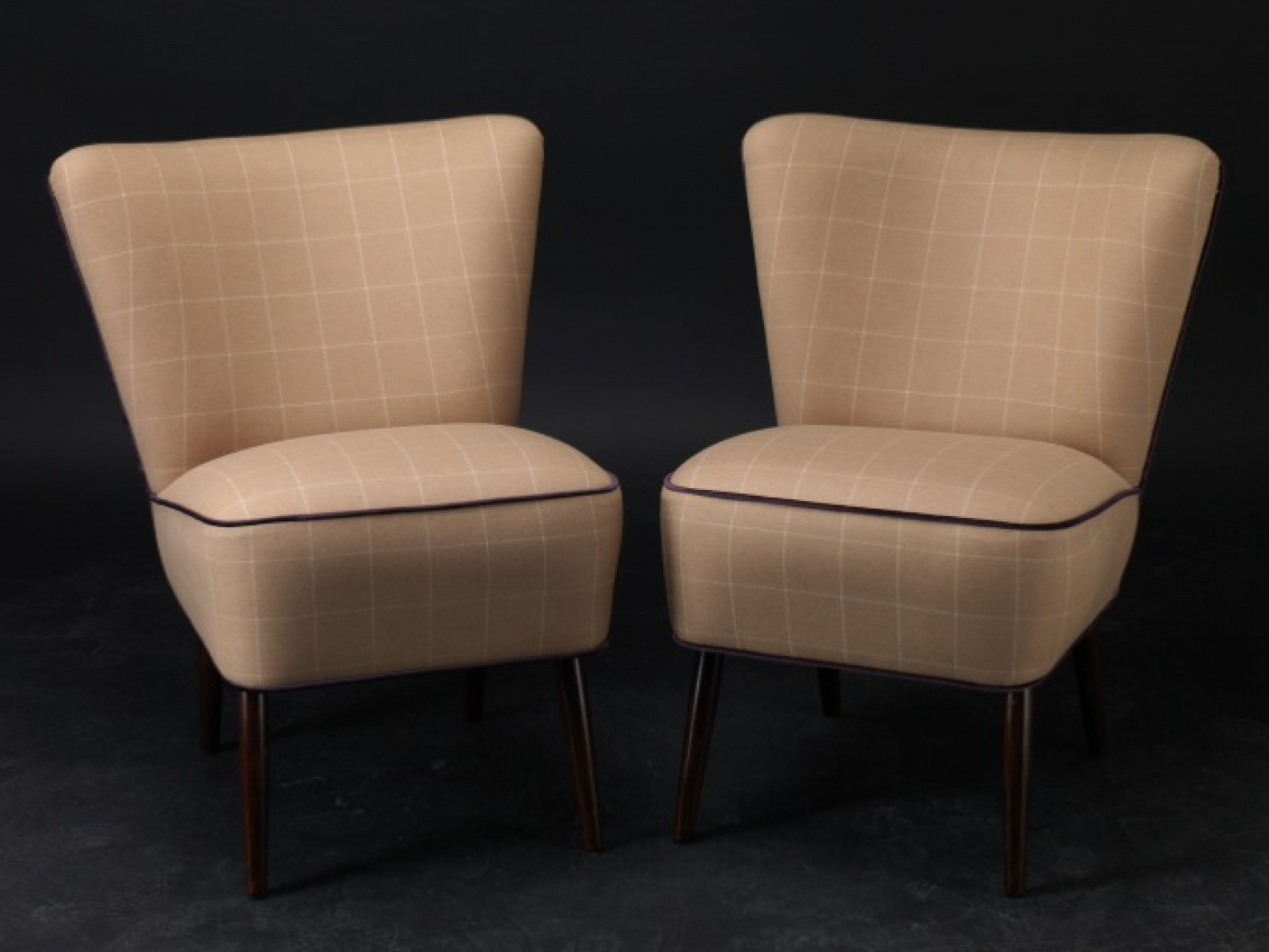 A pair of 1950`s French Cocktail Chairs