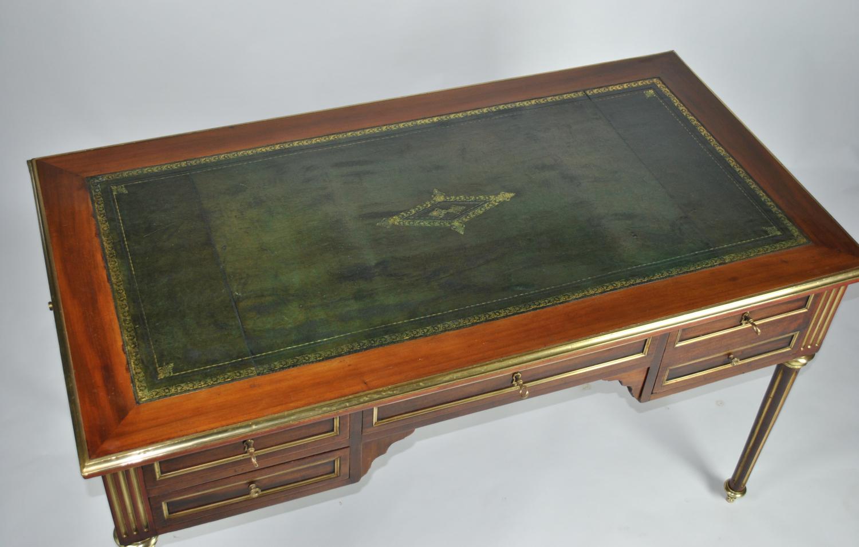 Brass Inlaid Bureau Plat / Desk