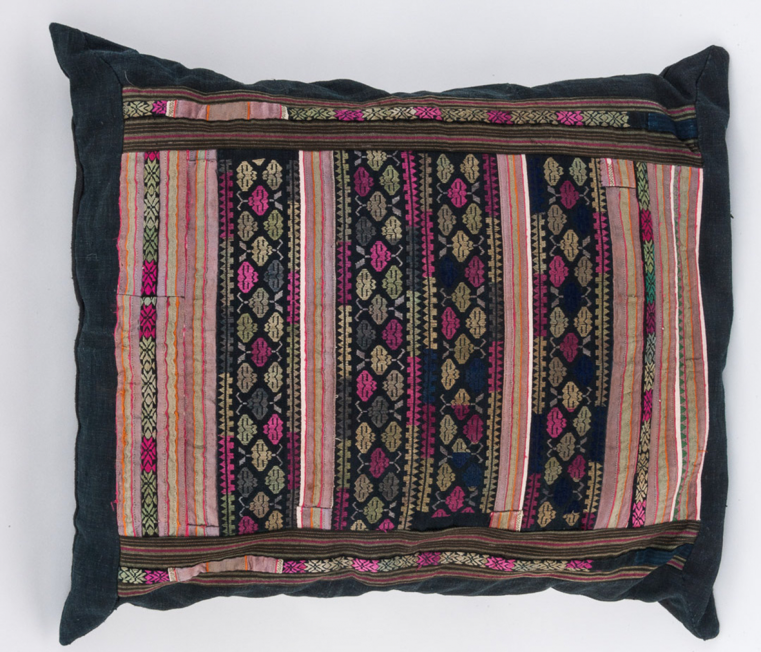 Large Chinese embroidered cushion