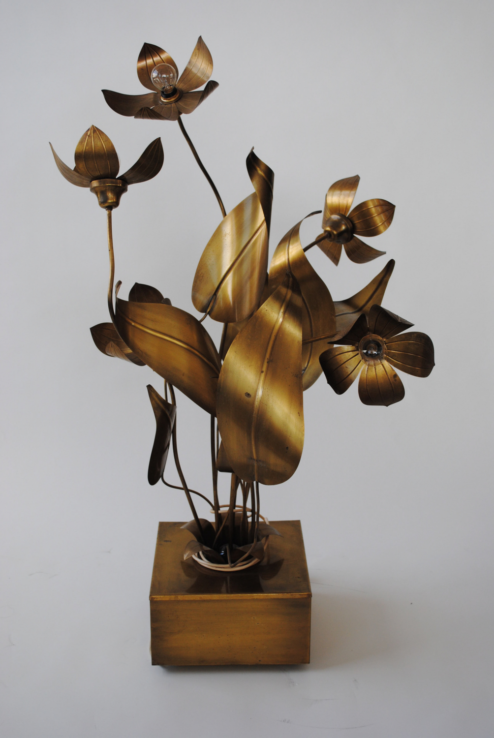 French Brass / Flower Lamp