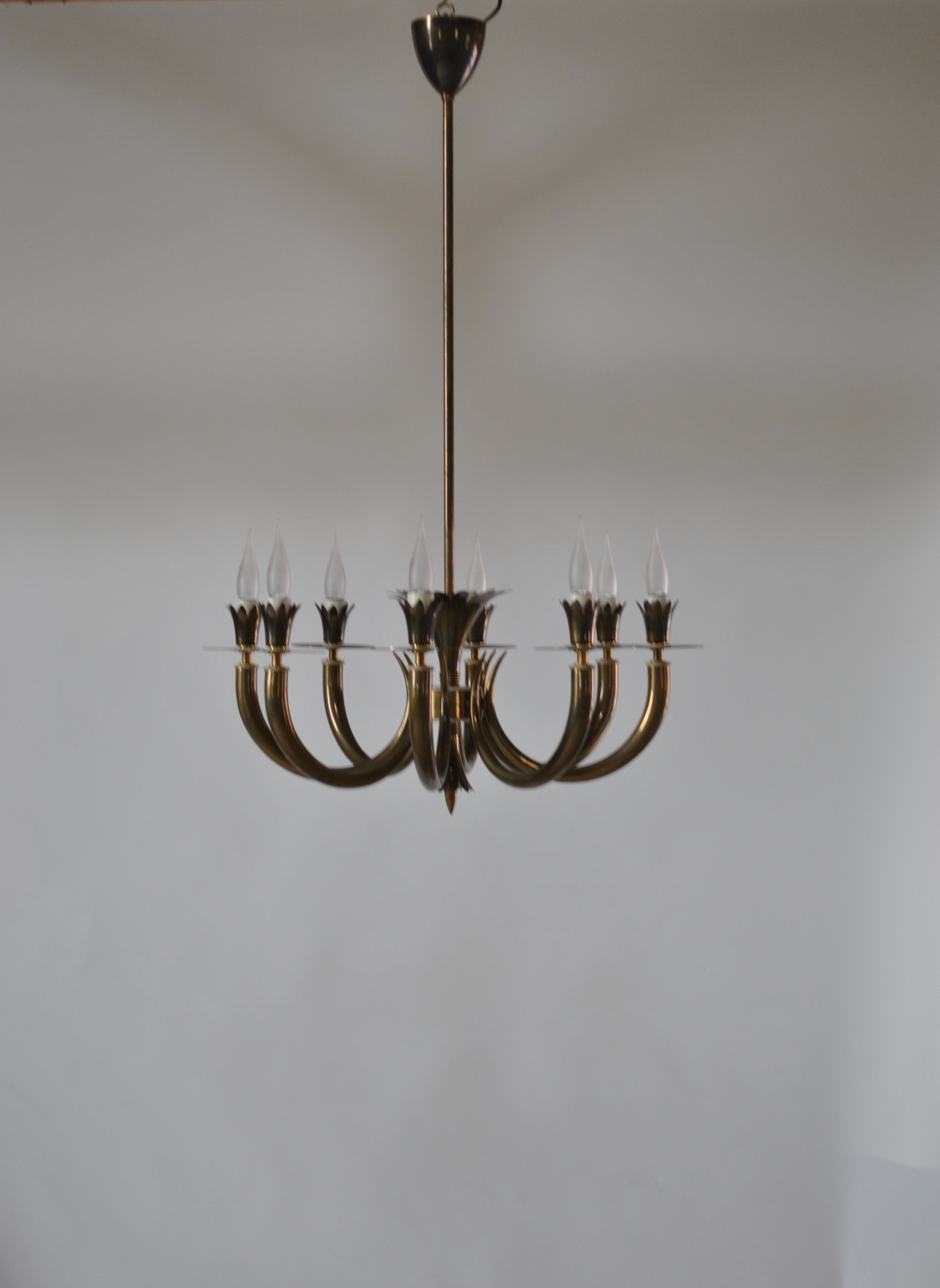 Lacquered Brass Ceiling Light