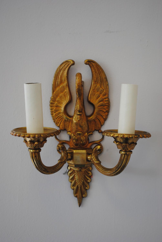 Bronze Jansen Style Wall Lights