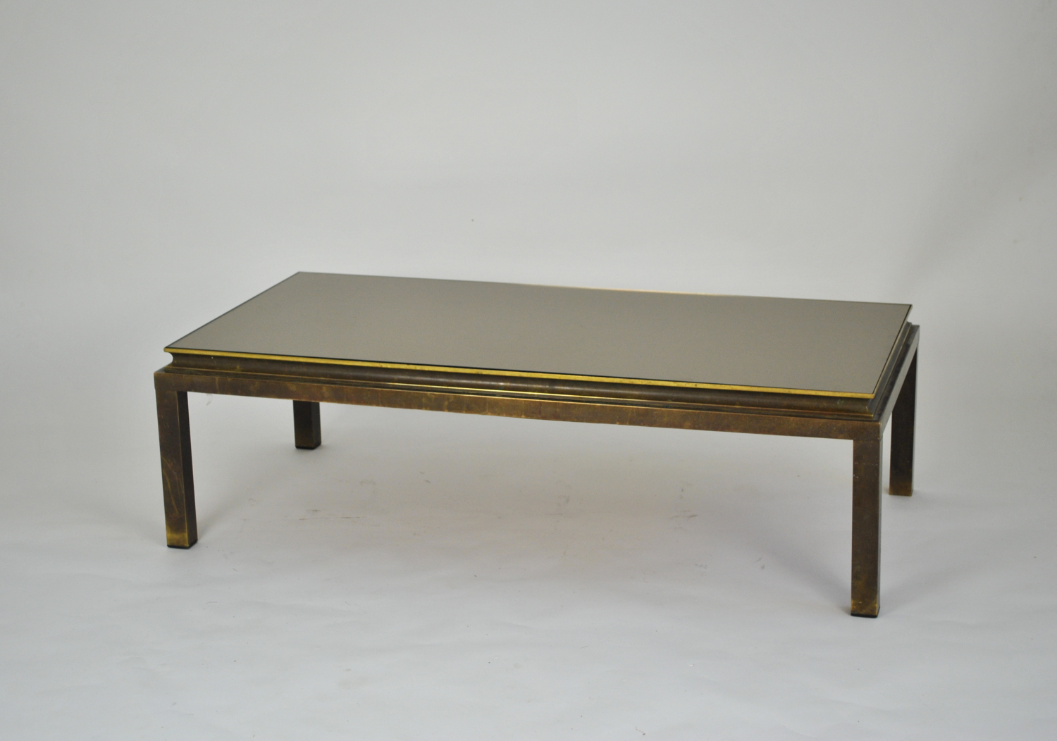 Coffee Table with Bronze Glass