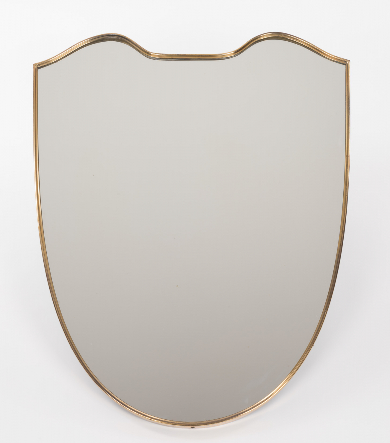 Brass shield mirror