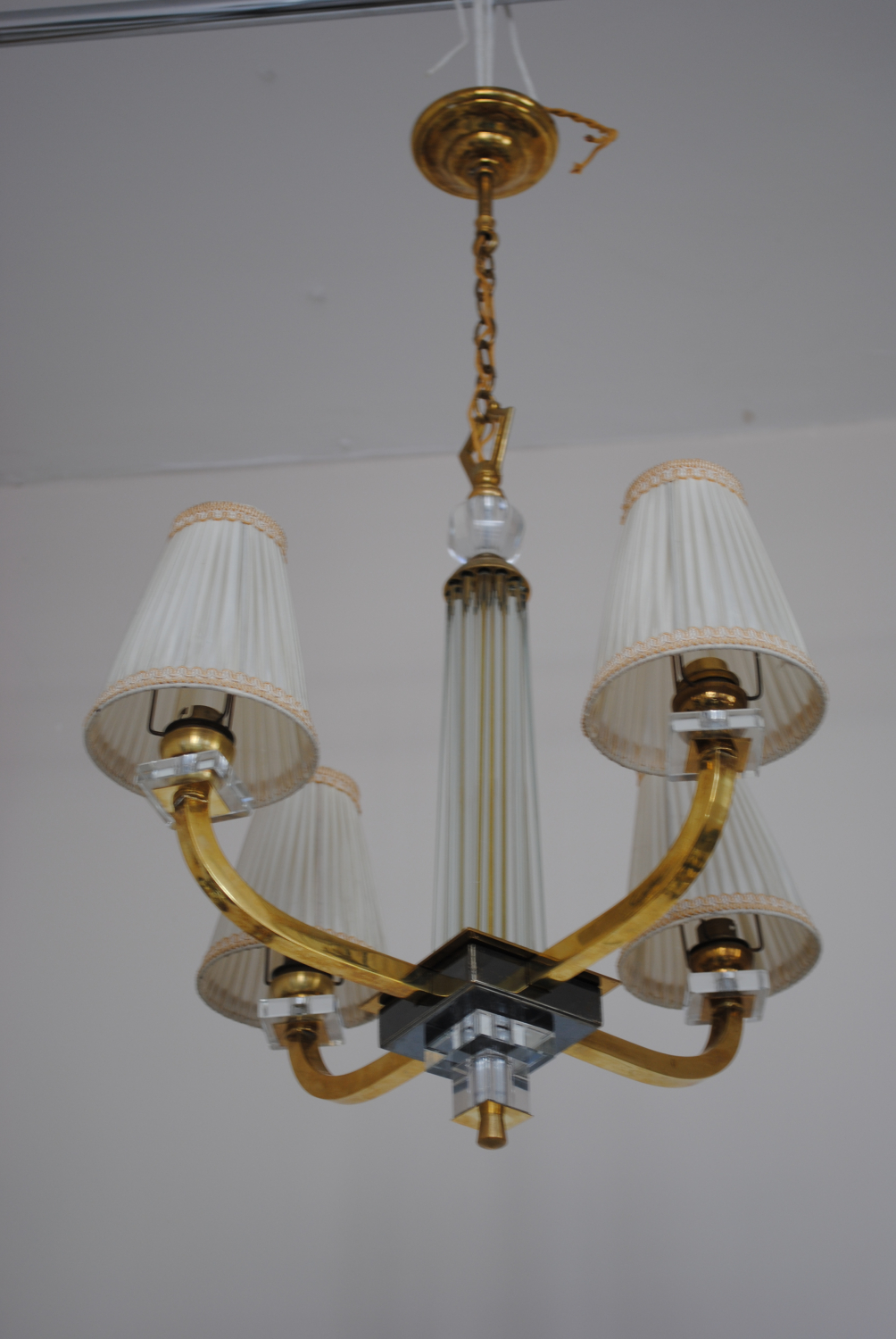 Chandelier in the style  of Jacques Adnet