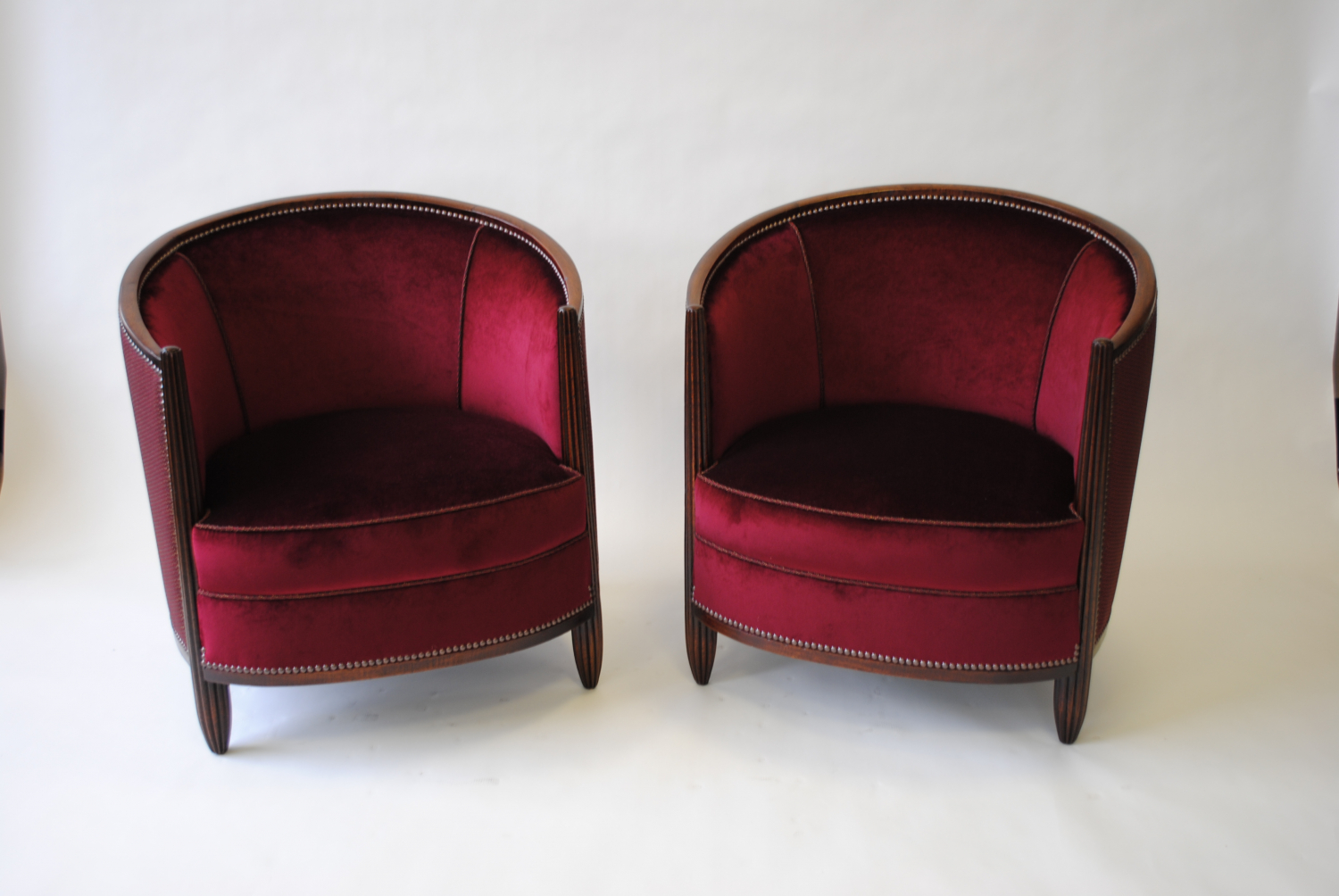 Pair of 1940`s French reeded chairs