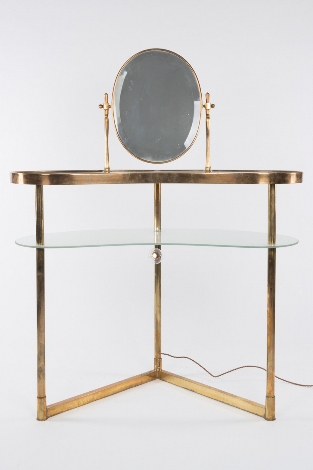 Brass dressing table