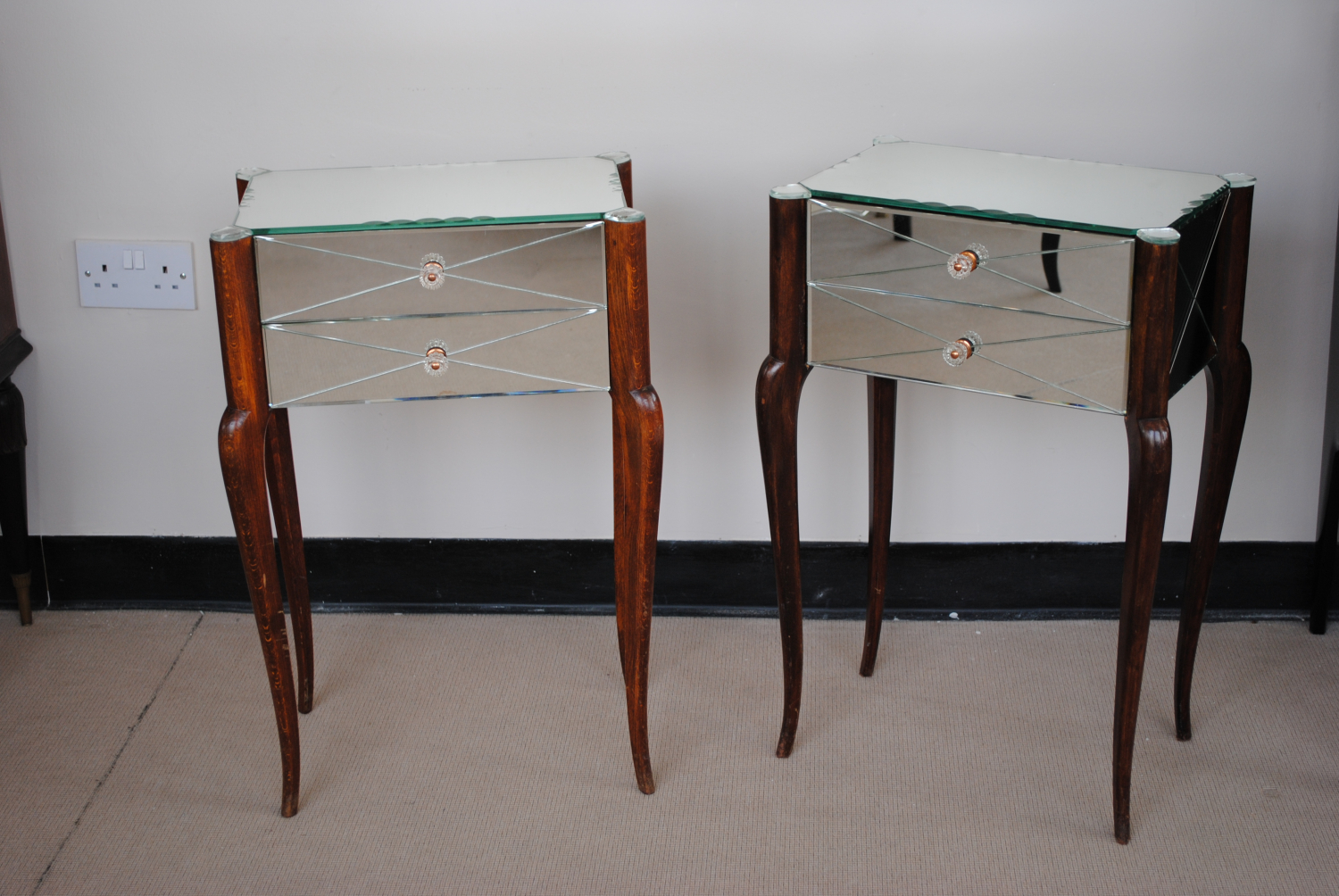 Art Deco Bedside Tables