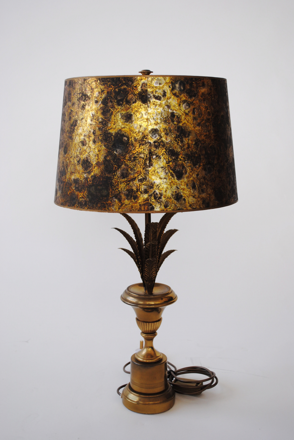 Brass 50`s French Table Lamp