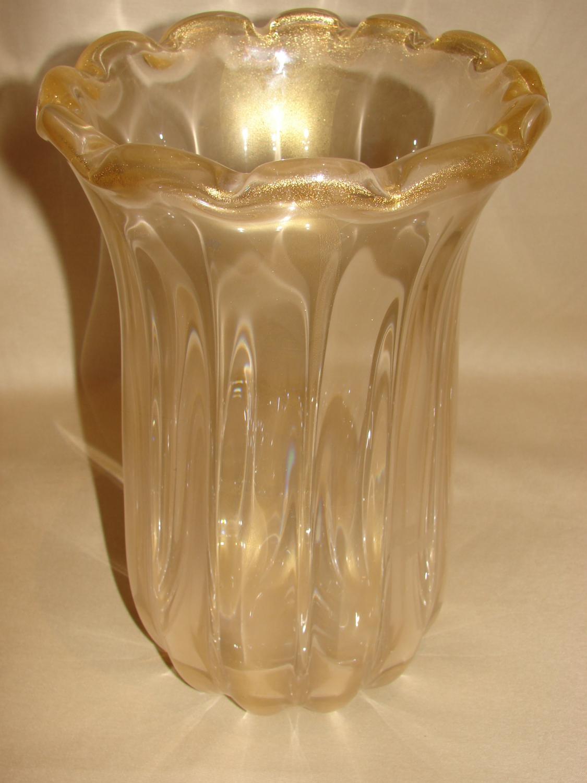 Gold Murano Vase