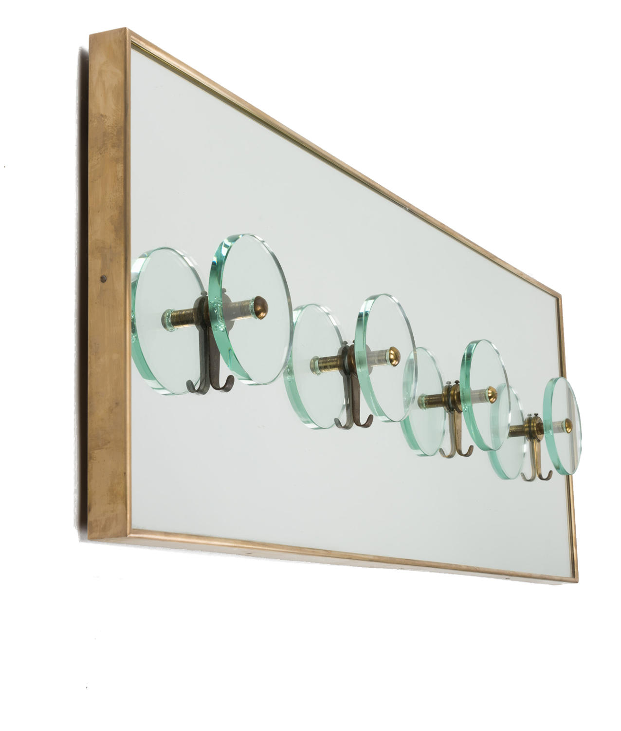 Mirrored Coat Rack