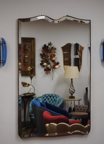 Large Brass Italian Mirror