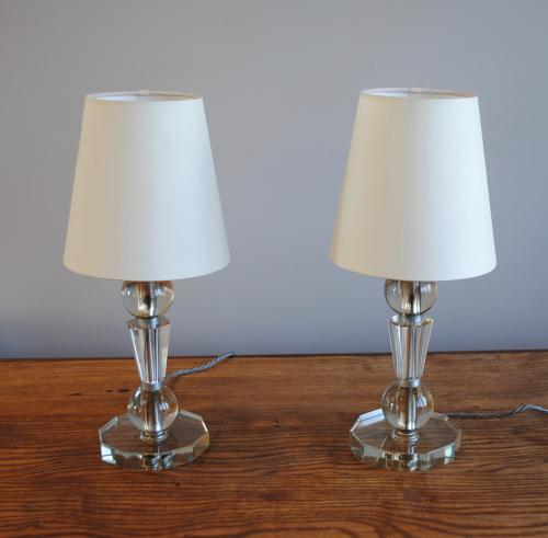 Glass Bedside Lamps 1