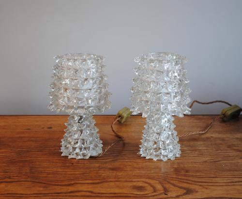 Pair of Barovier Table Lamps