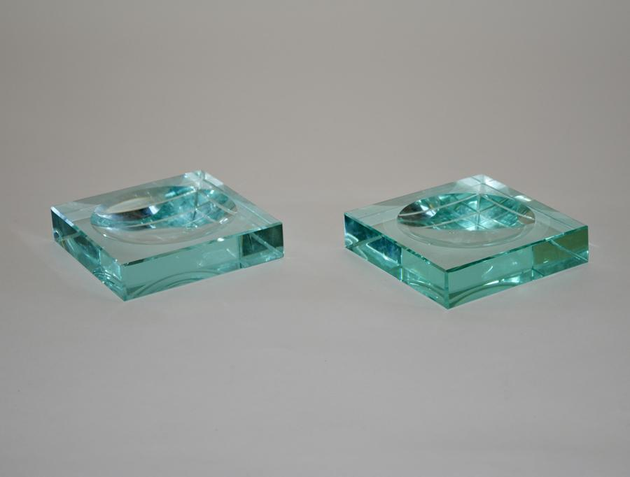 Pair of Glass Dishes