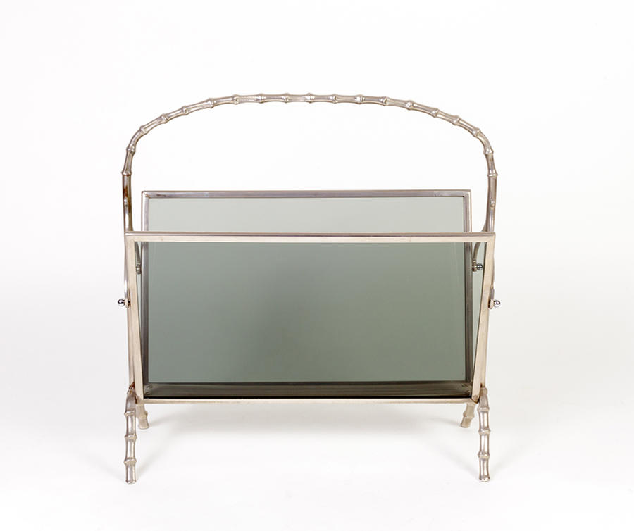 Nickel plated magazine rack