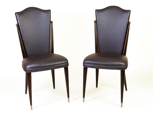 Pair of French 1940's hall /side chairs
