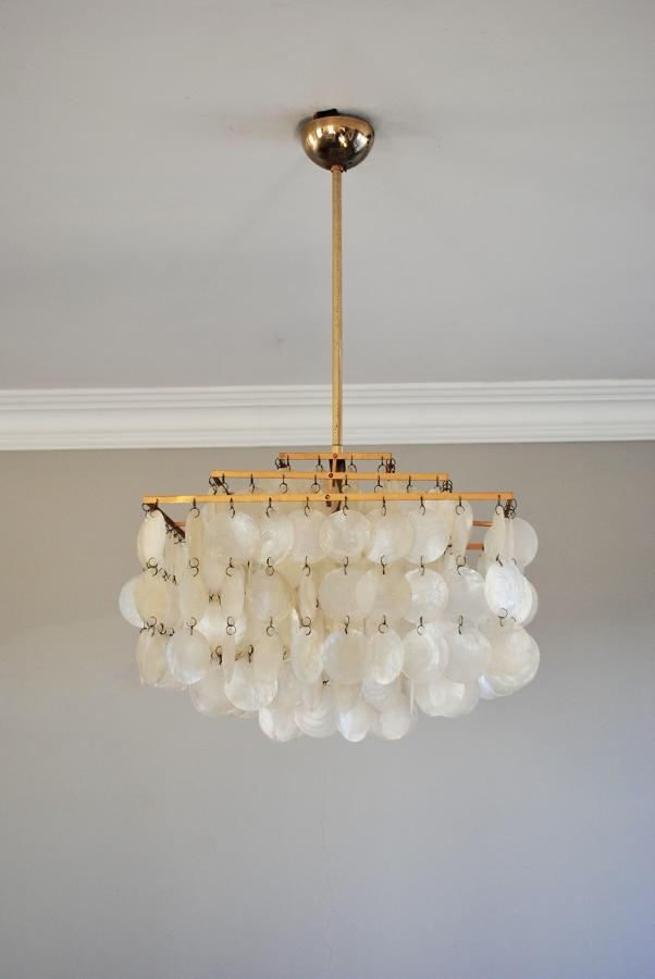 Mother of pearl pendant light.